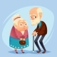 Senior Lady and Gentleman with Silver Hair Happy - GraphicRiver Item for Sale