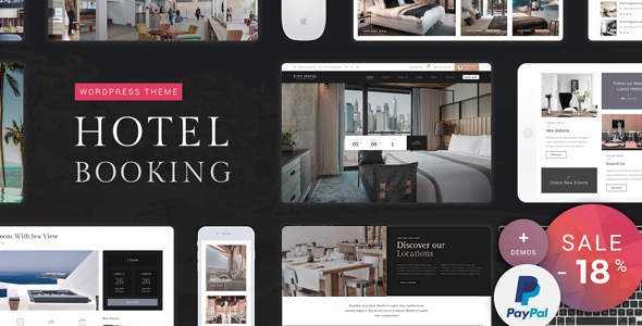 Hotel Booking - Hotel WordPress Theme - Travel Retail