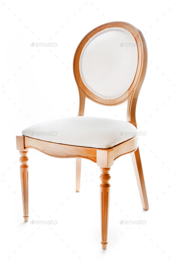Brown wooden chair - Stock Photo - Images