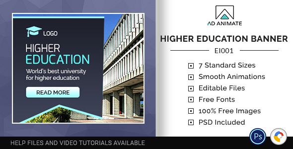 Education & Institute | Higher Education Banner (EI001) Free Download | Nulled