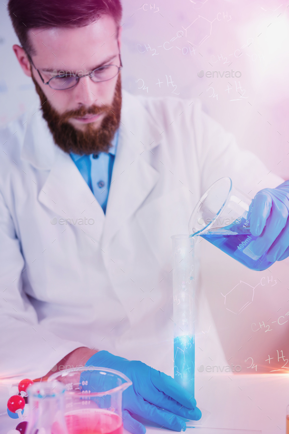 Portrait Of  Male Researcher In The Laboratory - Stock Photo - Images