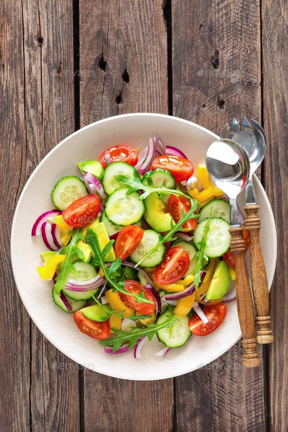 Healthy vegetarian dish, vegetable salad - Stock Photo - Images