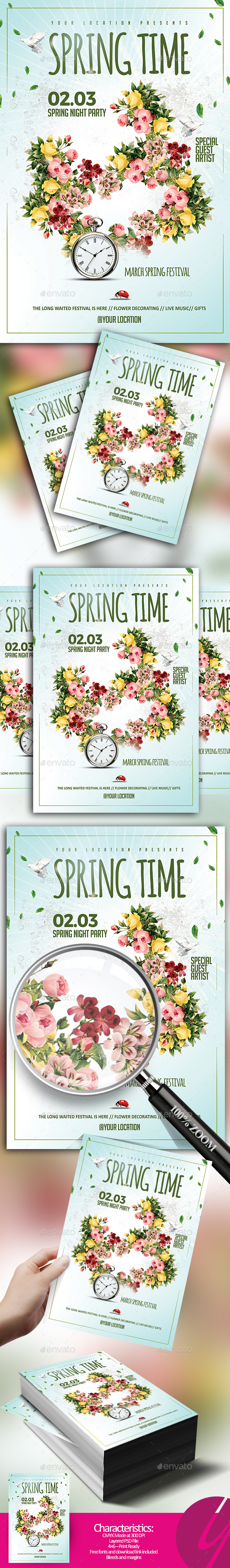 Spring Time Flyer - Holidays Events