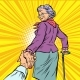Follow Me Mature Woman Granny Leads Hand - GraphicRiver Item for Sale