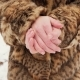 Beautiful Young Woman in Fur coat.Girls Is Trying To Warm Up Freezing Hands. - VideoHive Item for Sale