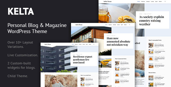 Kelta - Personal Blog & Magazine WordPress Theme - Personal Blog / Magazine