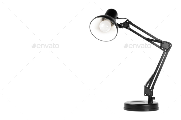 Black table lamp - Stock Photo - Images