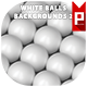 White Balls Backgrounds 2 - GraphicRiver Item for Sale