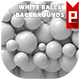 White Balls Backgrounds - GraphicRiver Item for Sale