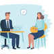 Illustration of Office Employer Interview - GraphicRiver Item for Sale