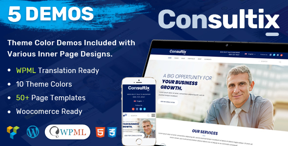 Consultix - Business Multi-Purpose WordPress Theme