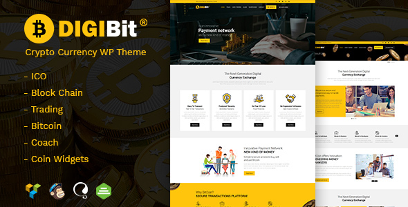 Image of DigiBit - Cryptocurrency Mining WordPress Theme