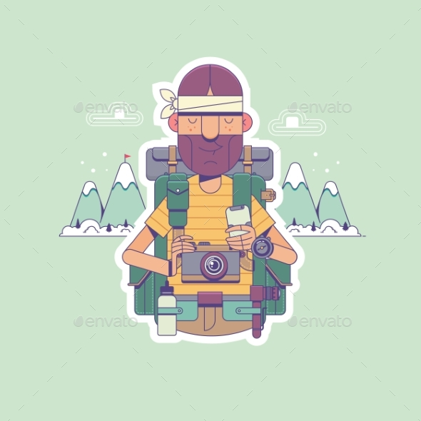 Travel or Hiking - Sports/Activity Conceptual