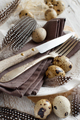 Easter table setting with quail eggs - PhotoDune Item for Sale