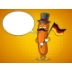 Bavarian Sausage Pop Art Vector Illustration - GraphicRiver Item for Sale