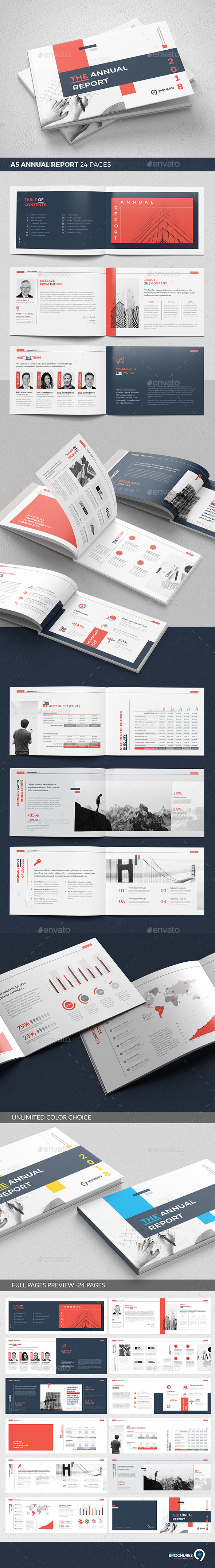 A5 Landscape Annual Report - Corporate Brochures