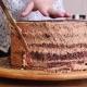 Woman Hands Prepares Layered Sponge Cake. - VideoHive Item for Sale