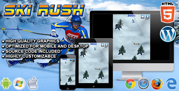 Ski Rush - HTML5 Sport Game - CodeCanyon Item for Sale