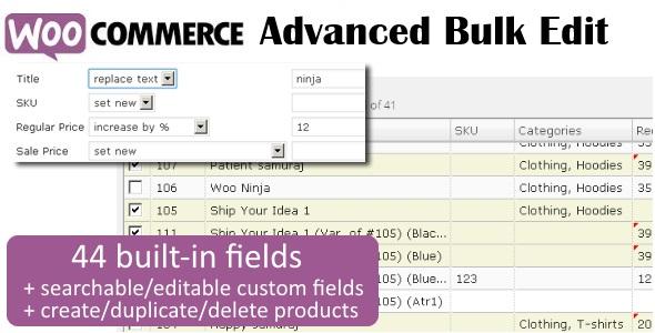 WooCommerce Advanced Bulk Edit