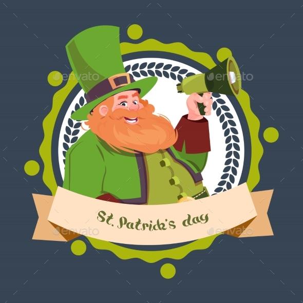 Happy St. Patricks Day Emblem Label - Miscellaneous Seasons/Holidays
