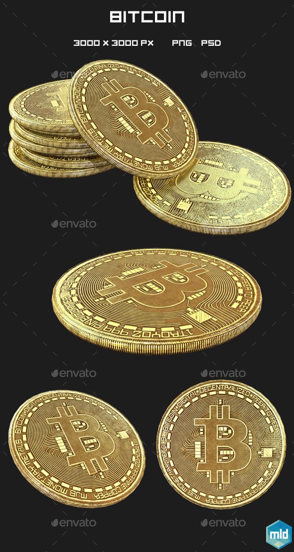 Bitcoin - 3D Backgrounds