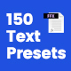 150 Text Presets - VideoHive Item for Sale