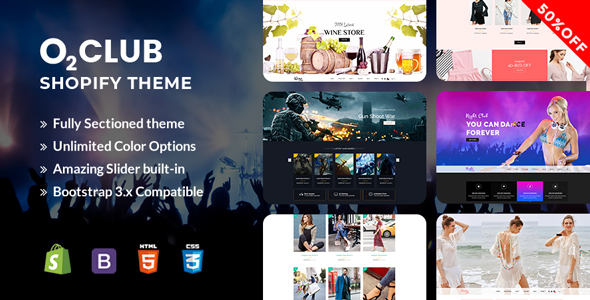 O2 Club Shopify Theme