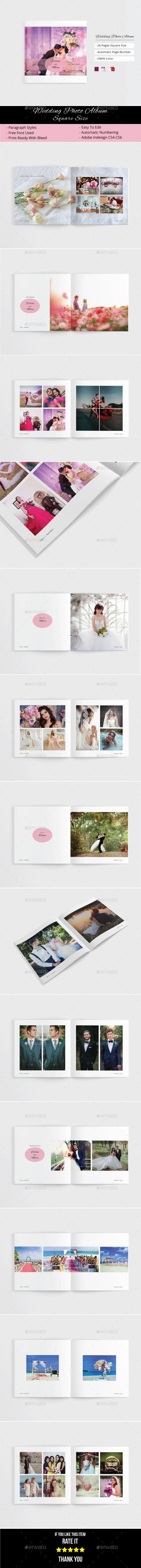Wedding Photo Album - Photo Albums Print Templates
