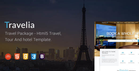 TRAVELIA - Travel Package HTML5 Template