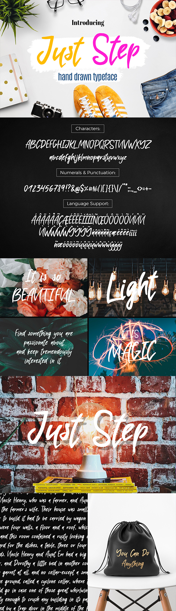 Just Step Typeface - Hand Drawn Font - Hand-writing Script