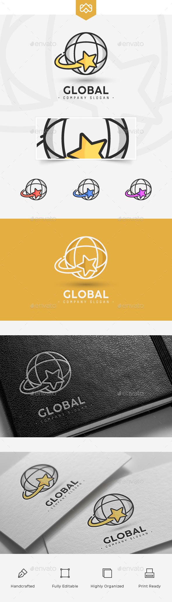 Globe Logo - Vector Abstract