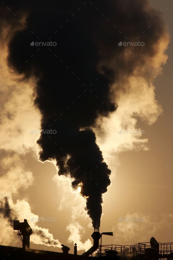 Gaseous air pollution - Stock Photo - Images