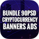 Bundle Cryptocurrency Banners Ad - 90 PSD [06 Sets] - GraphicRiver Item for Sale