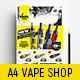 A4 Vape Shop Poster Template