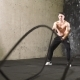 Two Athletes Doing Battle Rope Exercise - VideoHive Item for Sale