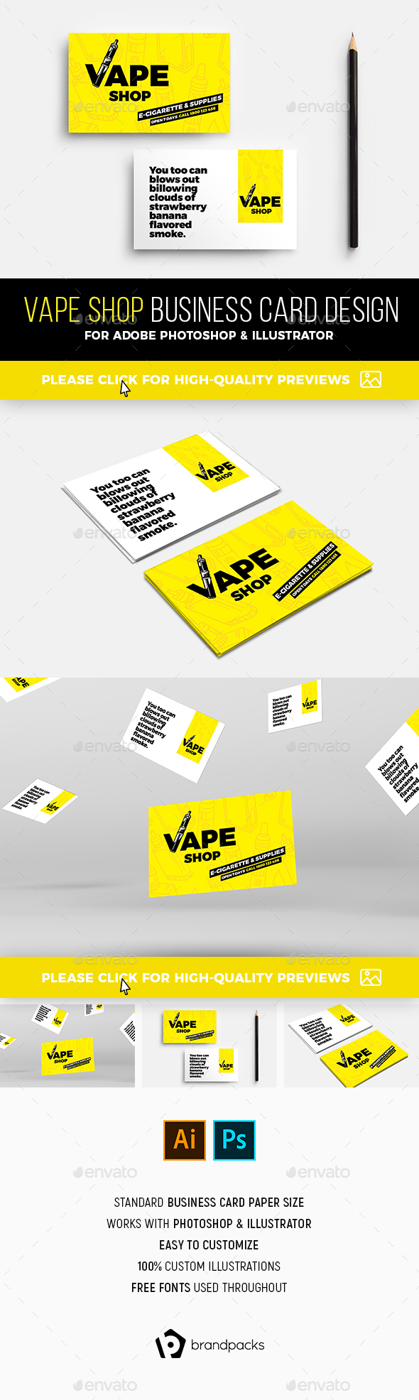 Vape Shop Business Card Template - Industry Specific Business Cards