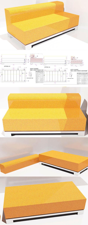 Modren sofa - 3DOcean Item for Sale