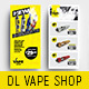 DL Vape Shop Rack Card Template