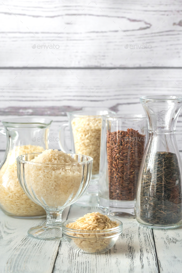 Different kinds of rice - Stock Photo - Images