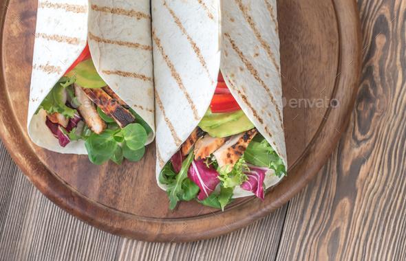 Avocado chicken taco - Stock Photo - Images
