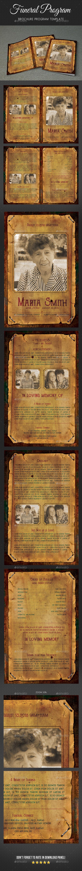 Funeral Program Brochure Template V06 - Informational Brochures