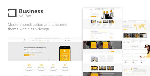 yellow business - construction theme for industrial businesses (business) Yellow Business – Construction Theme for Industrial Businesses (Business) preview