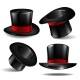Set of Black Magician Cylinder Hats - GraphicRiver Item for Sale