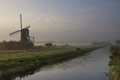 Wingerdse mill in misty morning atmosphere - PhotoDune Item for Sale