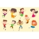 Children in Jumping Poses - GraphicRiver Item for Sale