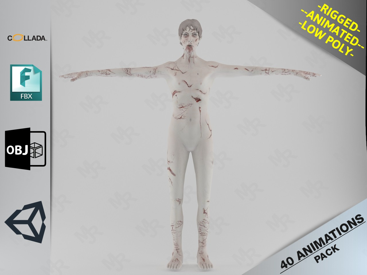 Male Zombie1 Animations Pack