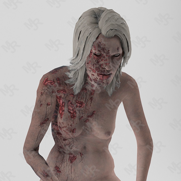 Female Zombie1 Animations Pack - 3DOcean Item for Sale
