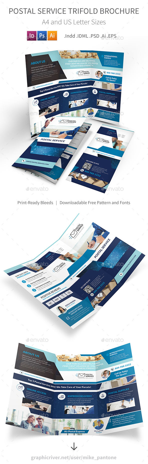 Postal Service Trifold Brochure - Informational Brochures