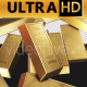 Fine Gold Bars Dropping 4K UHD - VideoHive Item for Sale
