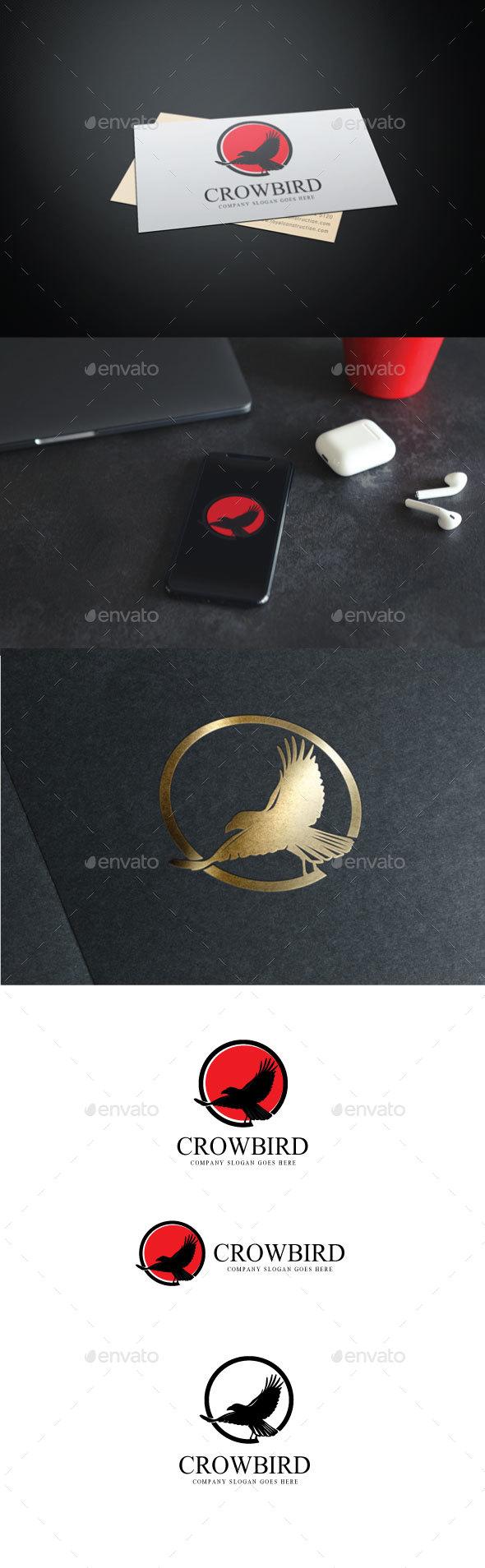 Crowbird Logo - Animals Logo Templates